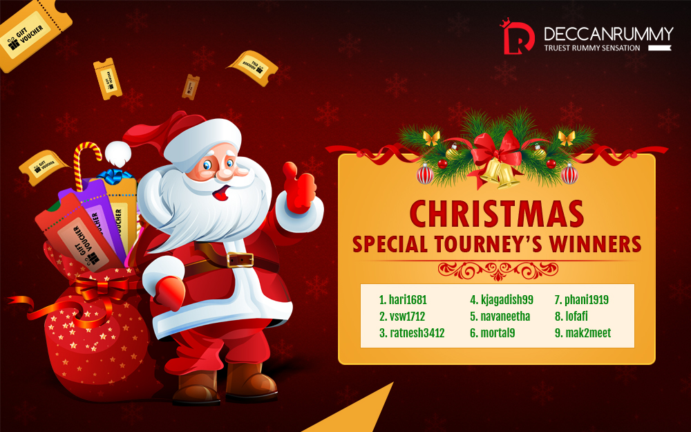 Christmas Fiesta - Special Freeroll Tournament winners