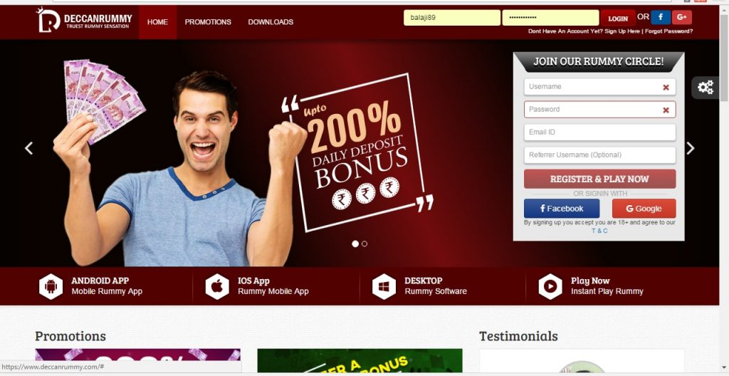 Deccan Rummy Website