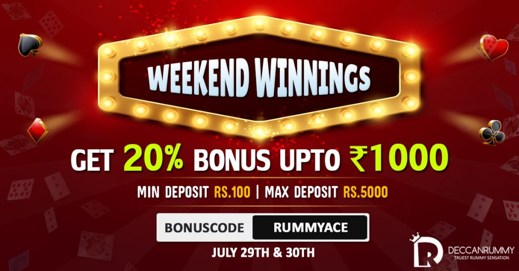 Rummy Promotions - Weekend Winnings