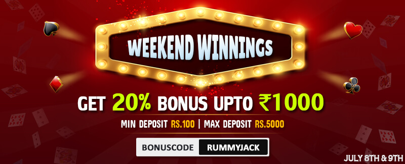 Online Rummy Promotions - Weekend Winnings