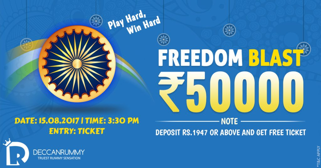 Rummy Tournaments - Play our Freedom Blast