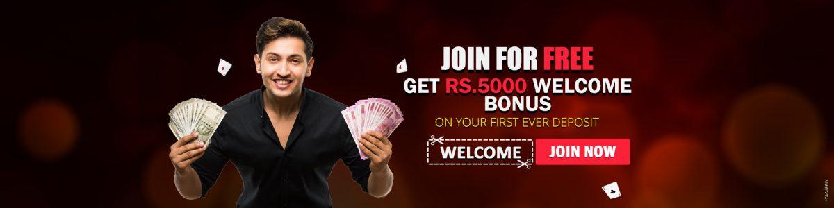 Get Rs.5000 bonus on your first deposit