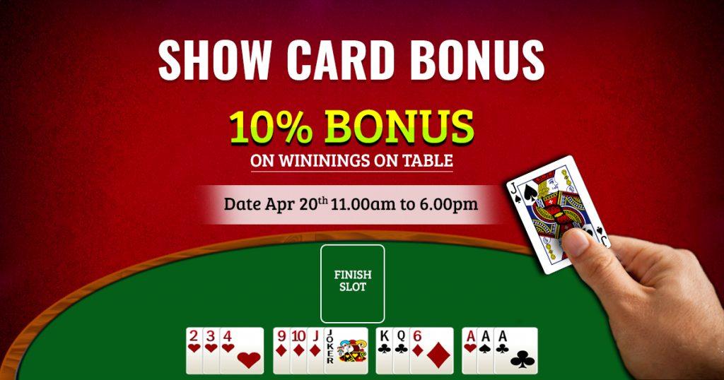 Show Card Bonus